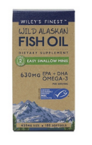 Wiley's Finest Easy Swallow 180 Fish Oil Softgels