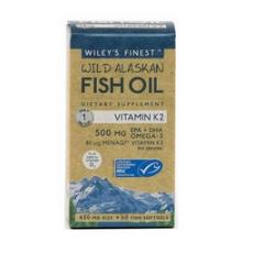 Wileys vitamin K2 EPA DHA Omega 3 natural fish oil