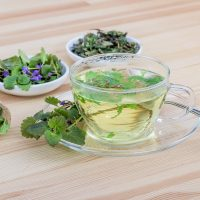 Healthy herbal tea for night sweats